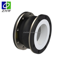 Single sphere flexible expansion joint ptfe lined rubber bellows