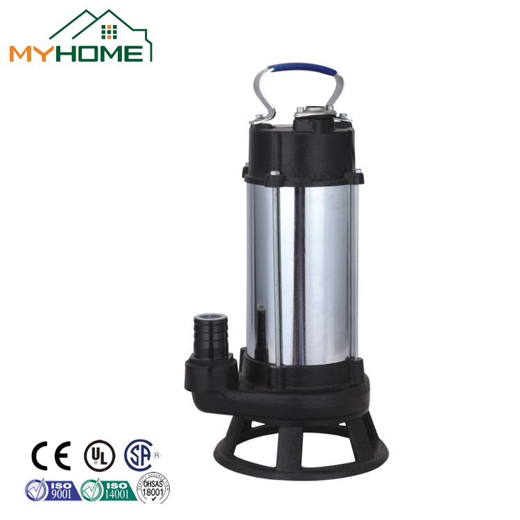 WQD10-10-0.75G Stainless steel 304 0.75KW Sewage submersible pump