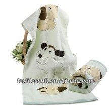 Pure cotton non twist darling dog printed towel
