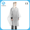 Transparent adult PVC vinyl rain poncho reusable rain coat with Logo printed