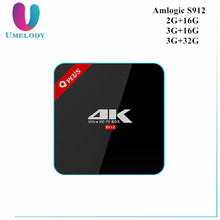 Q Plus Amlogic S912 Octa Core Android 6.1 TV Box Optional 2+16/3+16/3+32