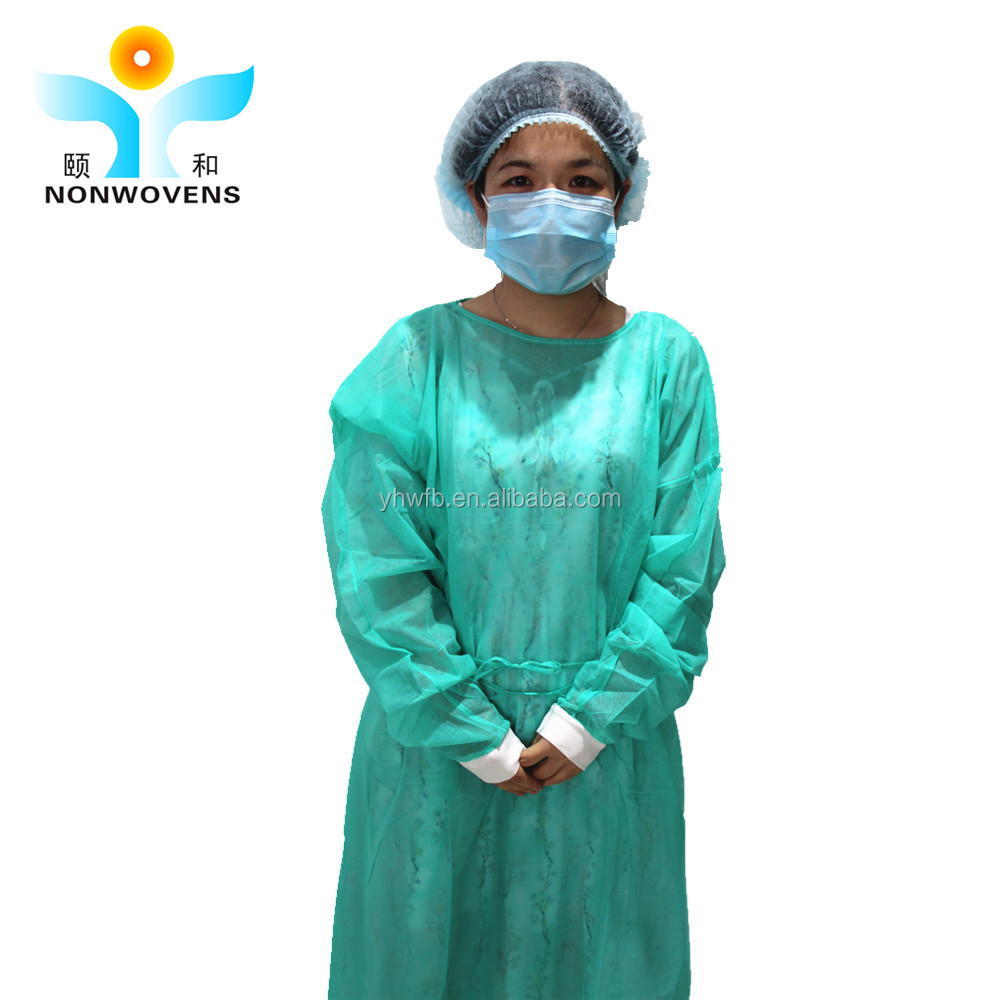 Knit cuff surgical disposable isolation gown