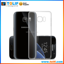 2016 new hot product For Samsung Galaxy S7 clear TPU Case,moble phone clear soft TPU case for samsung S7