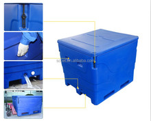 600L Blue Rotomolded Fishing Box Cooler Box Fish Tubs for fish transport