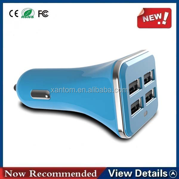 Universal 4 Port USB and Micro USB Car Charger for iPhone iPad iPod Samsung Galaxy Tab HTC & Tablet PC
