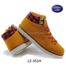 New arrival suede platform sneakers shoes factories for man