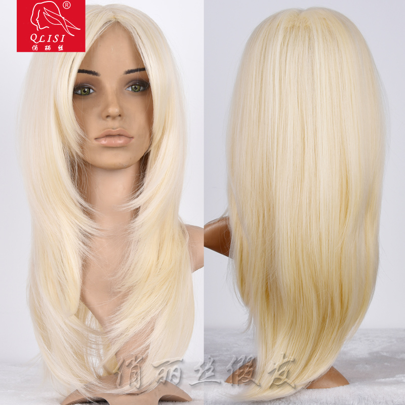 High Quality Long Straight Human Hair Blonde Wig Buy