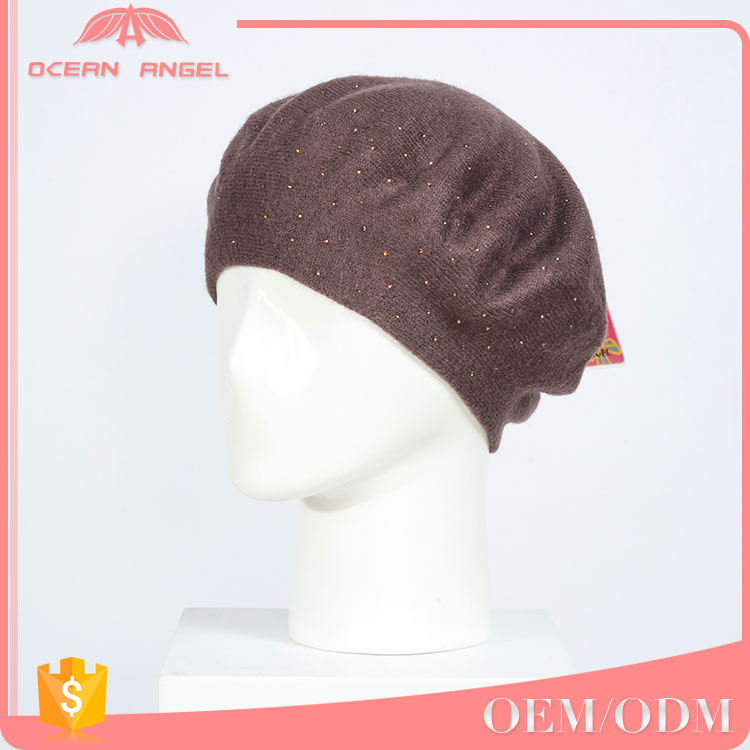 Hot product custom slouchy adult knitted beanie fashion winter hats and caps