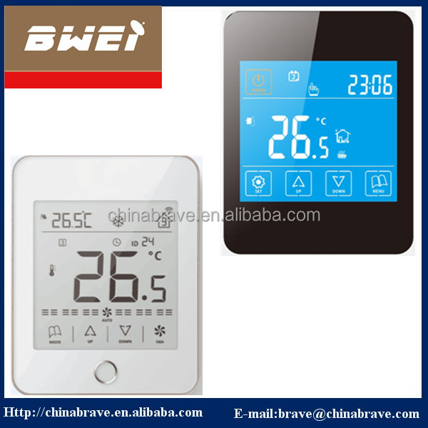 digital wifi Fan coil units four pipes touch screen thermostat