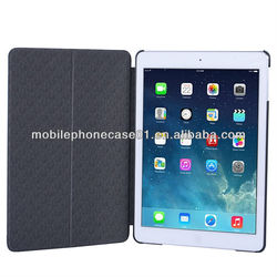 custom low price slim front stand book pu tablet cover for ipad 5