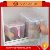 8L Kitchen Food Container Case Refrigerator Crisper Storage Box with Handle Cover