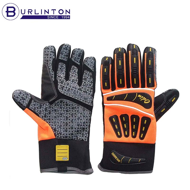 Impact Oilfield Roughneck Drilling Mechanic Coal Miner Gloves