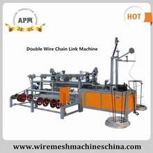 APM Double Wire Chain Link Fencing Machine/ Diamond Wire Mesh Fence Machine