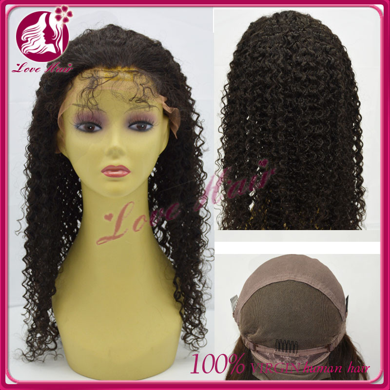 hot selling fast shipping 8-36inch low price long black afro kinky curly wigs,100% human hair wigs
