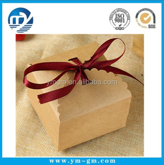 Square Kraft Paper Box Chocolate Boxes Packaging Cookie Handmade Bakery Packaging