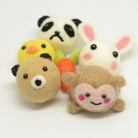 Customized little needle felt animals handmade wool craft