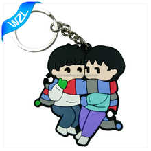 Factory price Custom popular Soft PVC keyring Rubber keychains