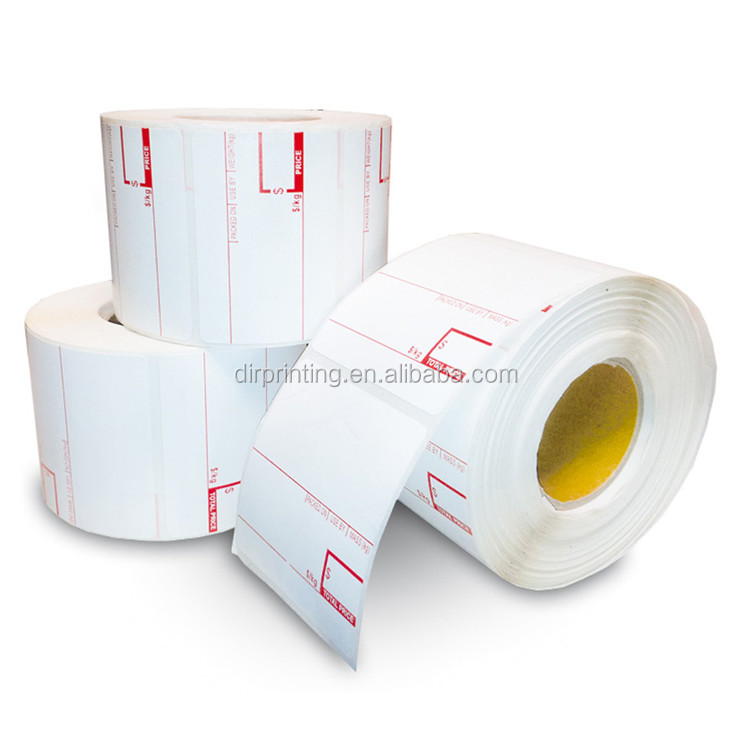 Zebra direct thermal label with high quality thermal transfer label roll