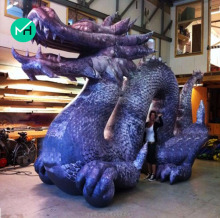 HIGH QUALITY giant model inflatable blue dragon for sale