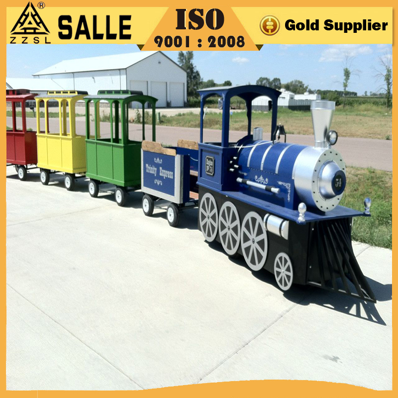 2016 new design luxury high quality interesting amusement item cheap electric mini train for kids train for sale