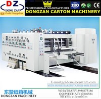 High Speed Flexo Ping Slotter Rotary Die Cutter five colour Electric flexographic printing machine