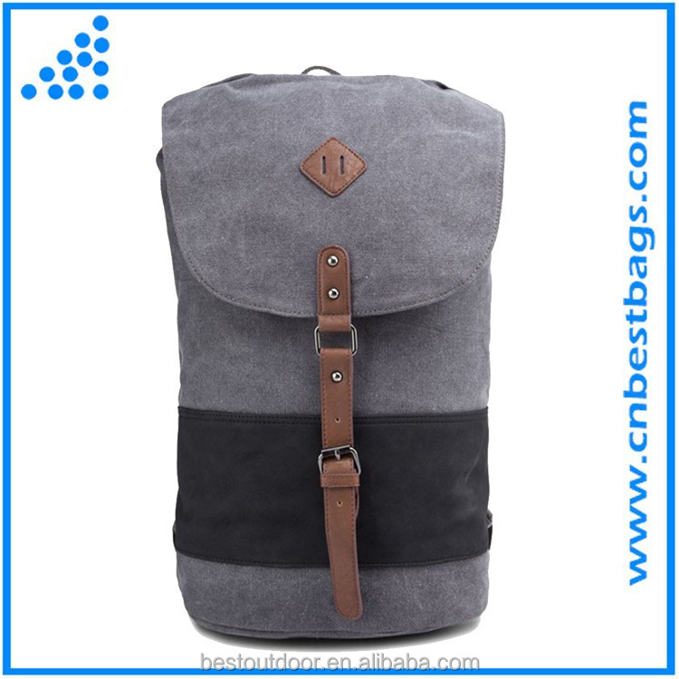 china wholesale Cute canvas college backpack school bags for teens