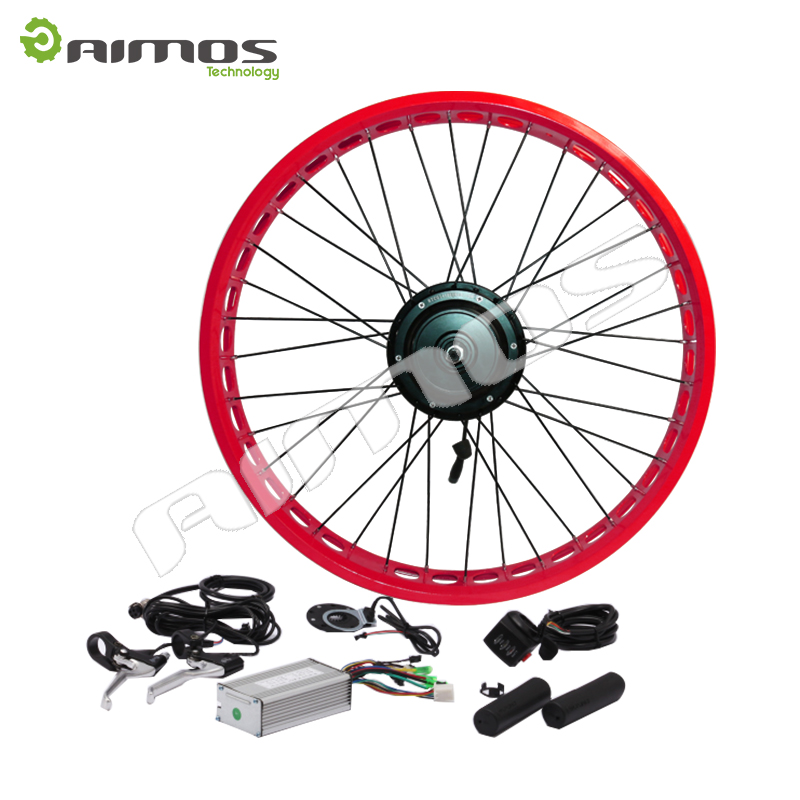 48v 1000w brushless gearless hub motor electric fat for Fat bike front hub motor