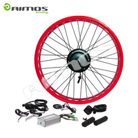 48V 1000W Brushless Gearless Hub Motor Electric Fat Bicycle Conversion Kit fat tire ebike kit 26x4.0