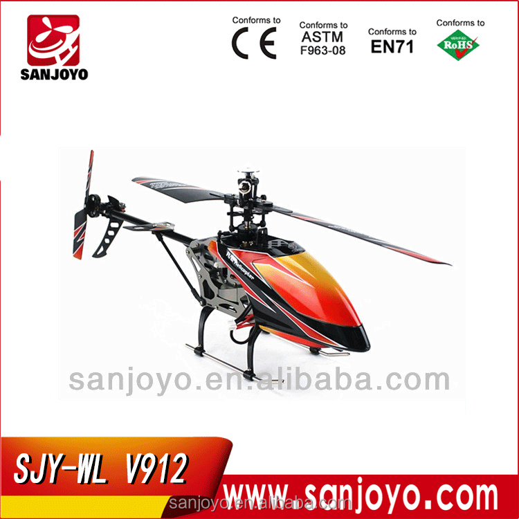 wltoys v912 rc helicopter toy 2.4G 4ch radio control wl toys with gyro single blade
