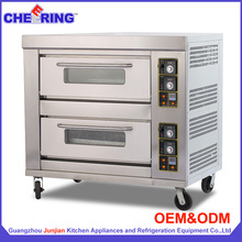 Restaurant kitchen stainless steel commercial gas baking oven for pizza or bread