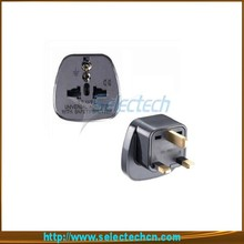 Safe Multi universal 2 round pin to 3 pin taken adapter english plug with security gate SES-7