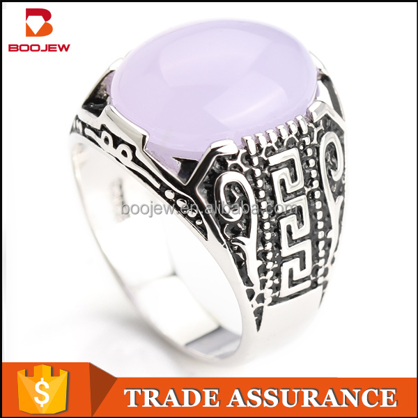 Large oval Chalcedony 925 Sterling Silver and natural stone silver mood rings white stone silver ring for men
