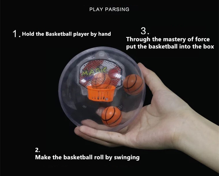 Promotional gift 2017 New Item mini Handheld Basketball game Rock Ball