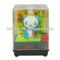 Novelty Solar Power Nohohon Zoku Dancing Bobble Panda Toy