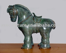 Ancient statue Chinese antique mimiature bronze tang dynasty horse sculpture