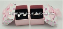 Pink paper packaging box with pink dots/cartoon box for packaging made in China