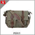Customized color leather video slr camera bag canvas