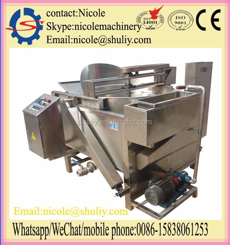 potato chips continuous fryer chips making machine 0086-15838061253