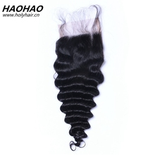 Wholesale alibaba durable service 8a virgin unprocessed indian curly hair 3 part silk base top lace closure