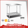 high quality catering stainless steel work table with perforated shelf