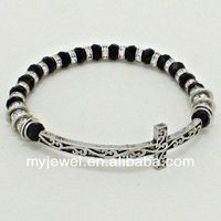 EXQUISITE boast concise the half moon rainbow color extra wide bangle cat eye beads bracelets