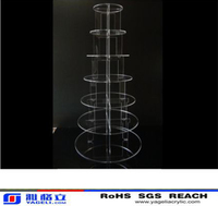 7 TIER CIRCLE ACRYLIC CUPCAKE PARTY WEDDING CAKE STAND