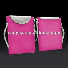 Pink Fashion leather book laptop case