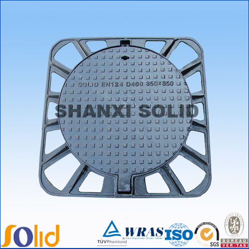 Hot sale Cast iron drainage square manhole cover with frame