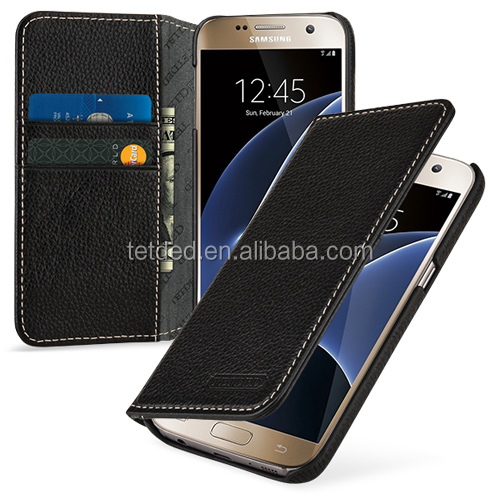 TETDED Premium Luxury Leather Back Cover Case for Samsung Galaxy S7
