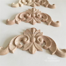 Elegant decorative wood carving furniture wood appliques and onlays