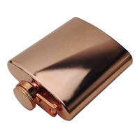 Promotion Hot Sale Flask Liquor Rose Gold Electroplate 201 Stainless Steel Hip Flask