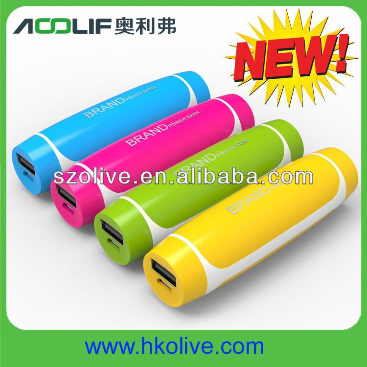 Cute design Mini Size 2600Mah Portable Mobile Charger Power Station