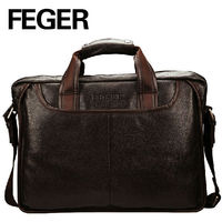 New Fashion Man Bag Leather Genuine Business Documents Bags