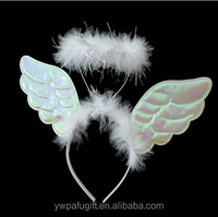 feather fairy angel wing halo headband